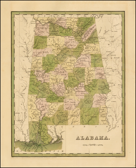 88-South and Alabama Map By Thomas Gamaliel Bradford