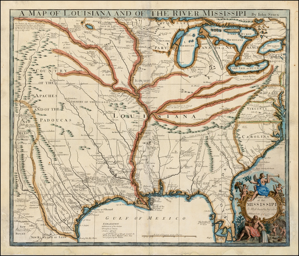 26-United States, South, Southeast, Texas, Midwest and Plains Map By John Senex