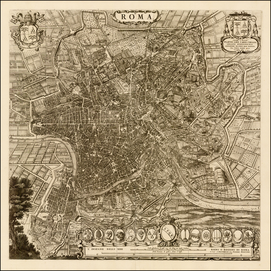 90-Italy Map By Willem Janszoon Blaeu / Cornelis Mortier