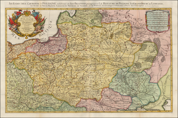 43-Poland, Russia, Ukraine and Baltic Countries Map By Johannes Covens  &  Cornelis Mortier