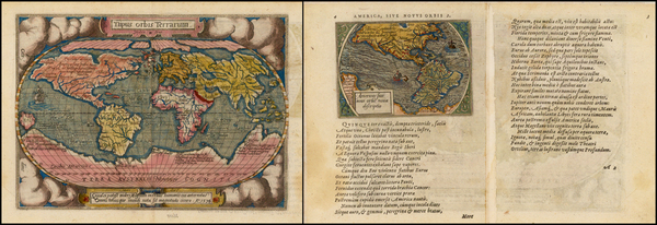 31-World, World, South America and America Map By Abraham Ortelius / Philippe Galle