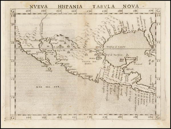 72-South, Southeast, Texas, Southwest, Rocky Mountains, Mexico and Baja California Map By Girolamo