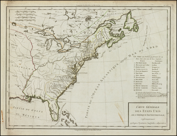 47-United States Map By Pierre Antoine Tardieu