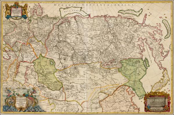 11-Russia, Ukraine, China, Japan, Korea, India, Central Asia & Caucasus and Russia in Asia Map