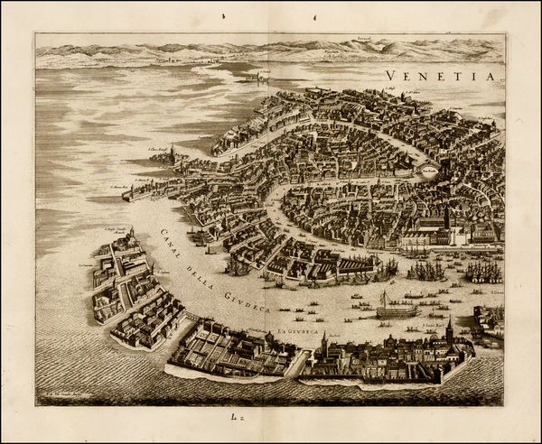 65-Venice Map By Frederick De Wit