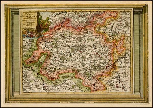 30-Luxembourg Map By Pieter van der Aa