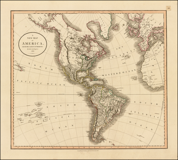 77-South America and America Map By John Cary