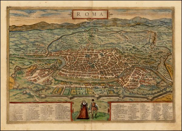 30-Italy Map By Georg Braun  &  Frans Hogenberg