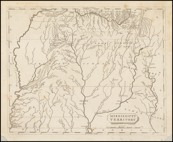 82-South and Alabama Map By Aaron Arrowsmith  &  Lewis