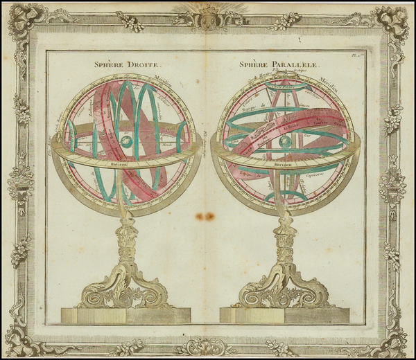 Celestial Maps Map By Louis Brion de la Tour