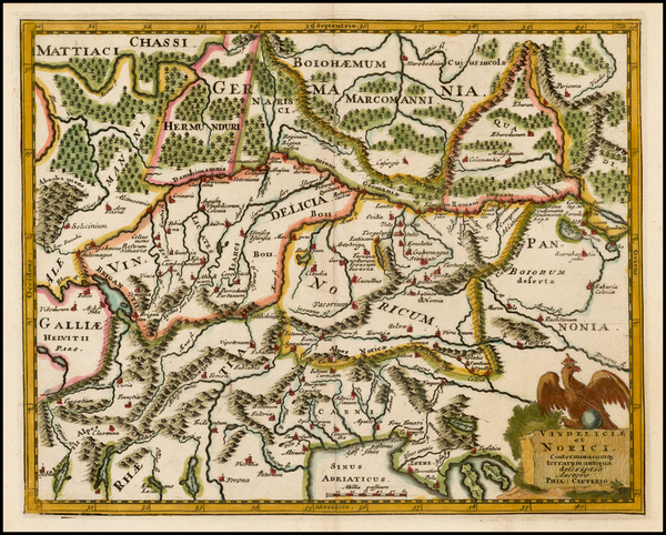 5-Austria, Hungary, Czech Republic & Slovakia, Balkans and Italy Map By Philipp Clüver