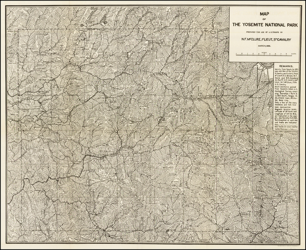 19-Yosemite Map By U.S. Government
