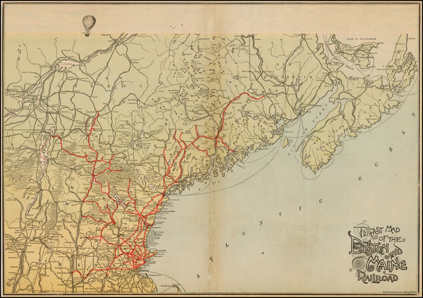 68-New England Map By Rand, Avery & Co.