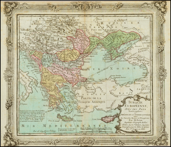 2-Europe, Russia, Ukraine, Balkans, Greece and Turkey Map By Louis Brion de la Tour