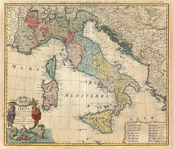 31-Europe and Italy Map By Homann Heirs