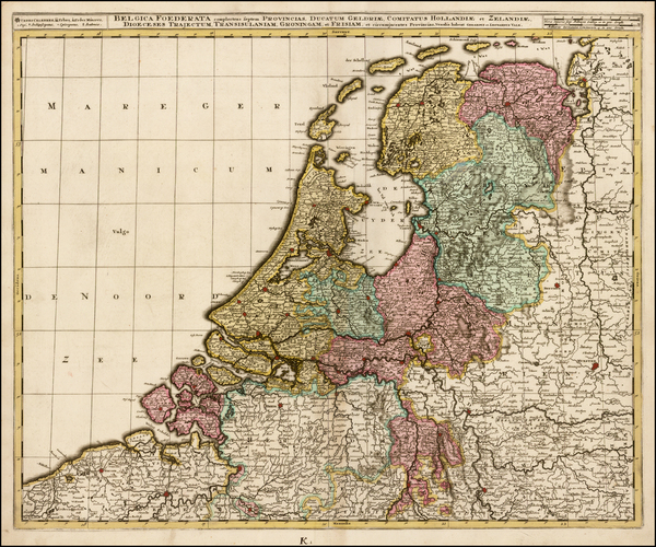 27-Netherlands Map By Gerard & Leonard Valk