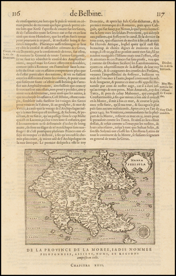 100-Greece Map By Francois De Belleforest