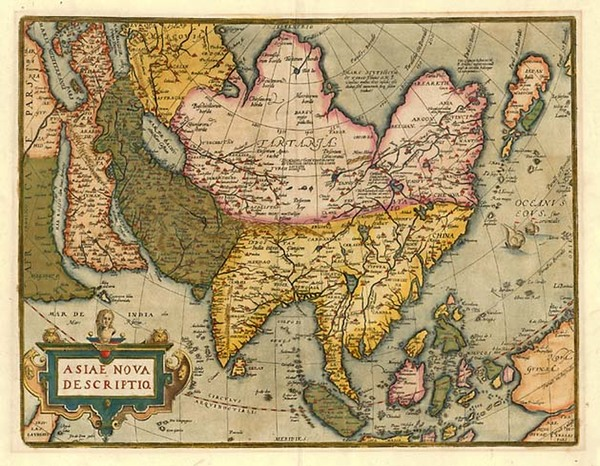 48-Asia, Asia, Australia & Oceania and Oceania Map By Abraham Ortelius
