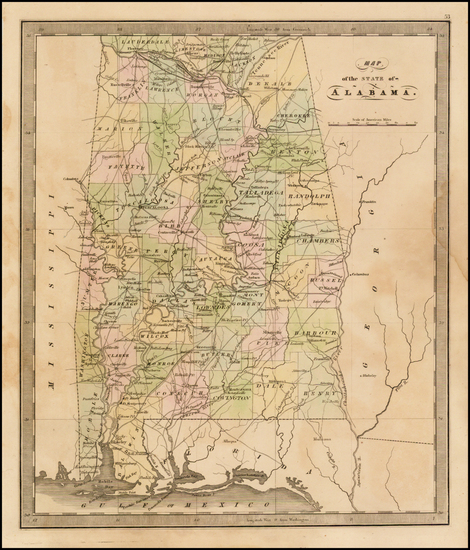 50-South and Alabama Map By Jeremiah Greenleaf