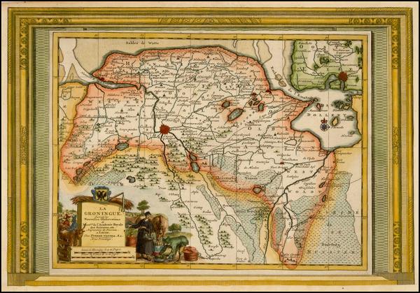 Netherlands Map By Pieter van der Aa