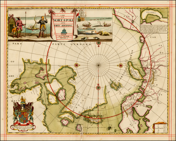 86-Polar Maps, Canada, Russia, Scandinavia and Russia in Asia Map By Moses Pitt