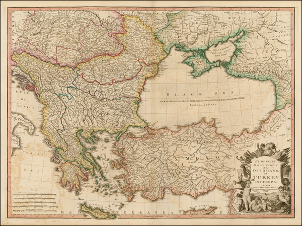 18-Russia, Ukraine, Balkans, Greece, Turkey and Turkey & Asia Minor Map By William Faden