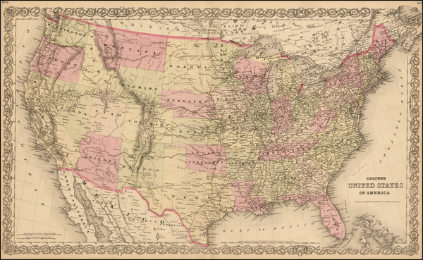 5-United States Map By G.W.  & C.B. Colton