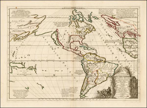 43-Atlantic Ocean, South America, Australia & Oceania, Pacific, Oceania and America Map By Nic