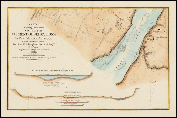 77-Southwest, Arizona and California Map By United States Bureau of Topographical Engineers