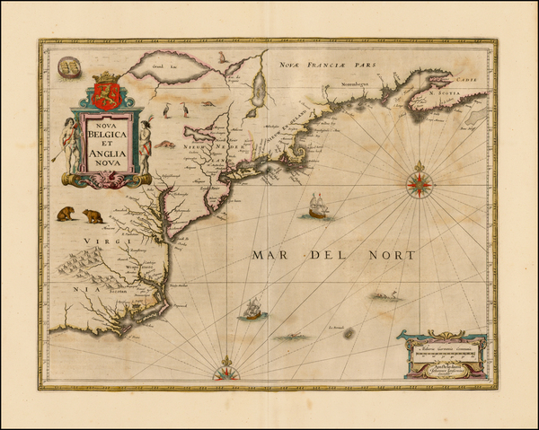 98-New England, Mid-Atlantic and Southeast Map By Jan Jansson