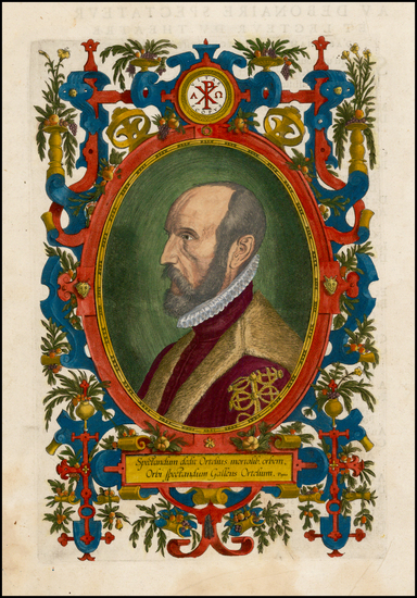33-Portraits & People Map By Abraham Ortelius