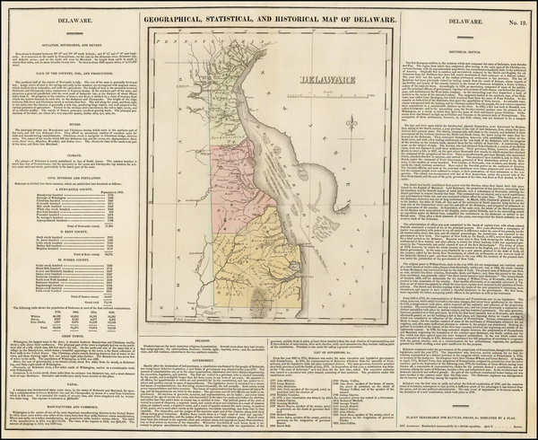 21-Delaware Map By Henry Charles Carey  &  Isaac Lea