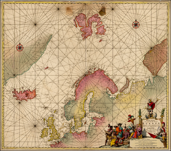 8-Atlantic Ocean, British Isles, Scandinavia and Iceland Map By Jacobus Robijn
