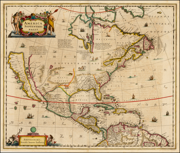 71-North America and California Map By Jan Jansson