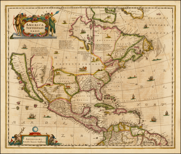 36-North America and California Map By Jan Jansson