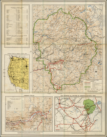 55-Yosemite Map By United States Department of the Interior