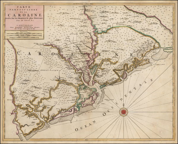 44-Southeast and South Carolina Map By Pieter Mortier