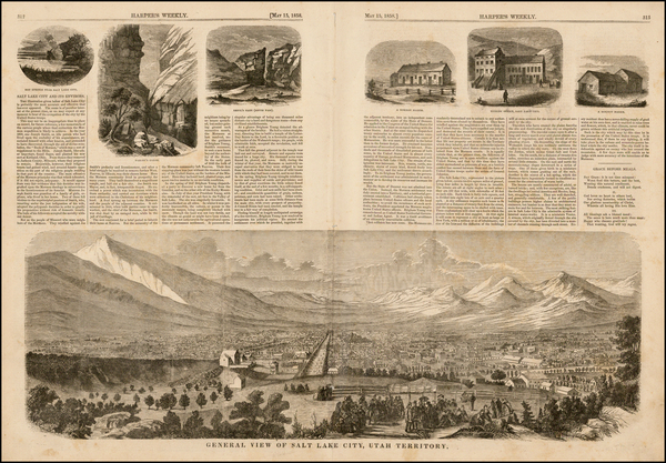 58-Southwest, Rocky Mountains and Utah Map By Harper's Weekly