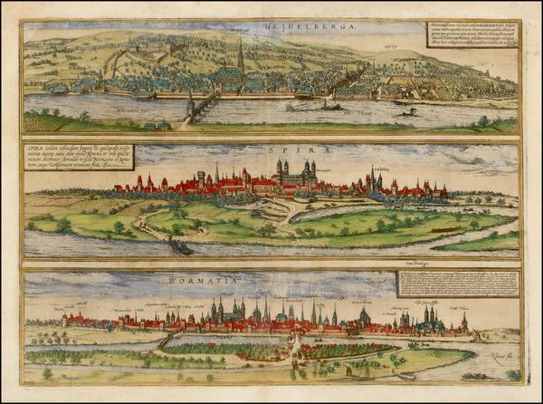 2-Germany Map By Georg Braun  &  Frans Hogenberg