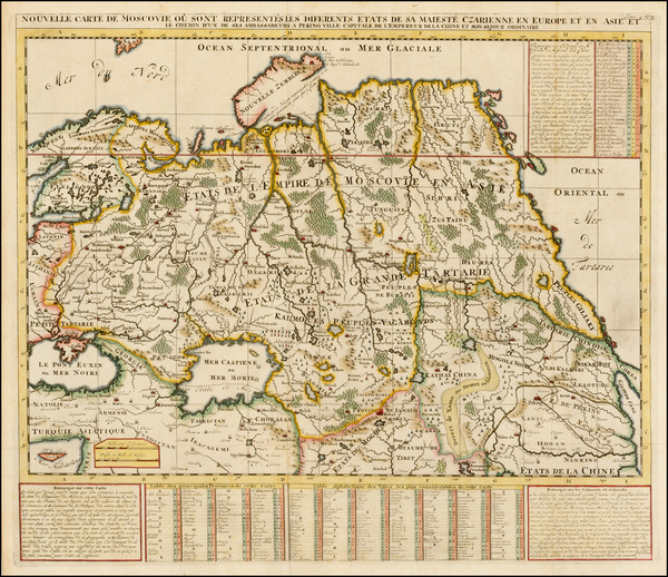 13-Russia, Ukraine, Central Asia & Caucasus and Russia in Asia Map By Henri Chatelain