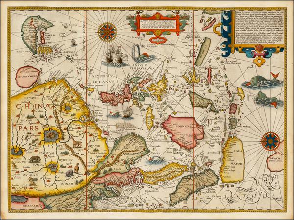 27-China, Japan, Korea, Southeast Asia and Philippines Map By Jan Huygen Van Linschoten