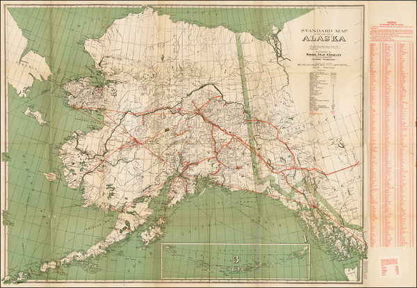 69-Alaska Map By Kroll Map Company