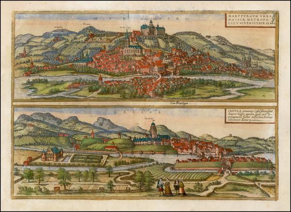 66-Germany Map By Georg Braun  &  Frans Hogenberg