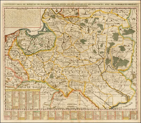 27-Poland and Baltic Countries Map By Henri Chatelain