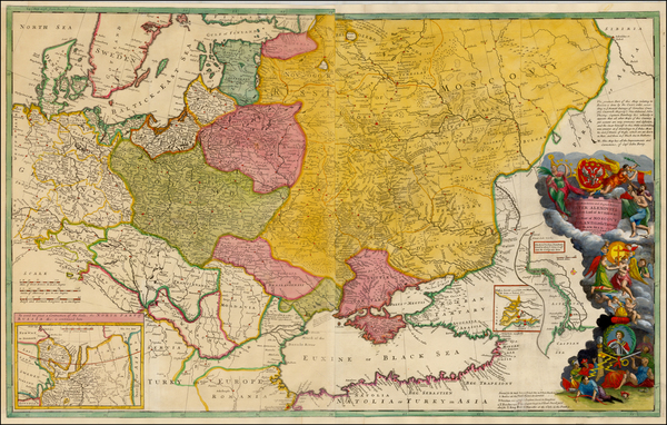 5-Germany, Poland, Russia, Ukraine, Baltic Countries, Balkans and Scandinavia Map By Herman Moll