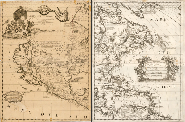 9-United States, Texas, Midwest, Southwest, North America and California Map By Vincenzo Maria Co