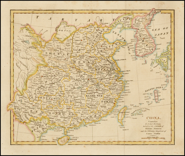 81-China and Korea Map By Anonymous / Robert Wilkinson