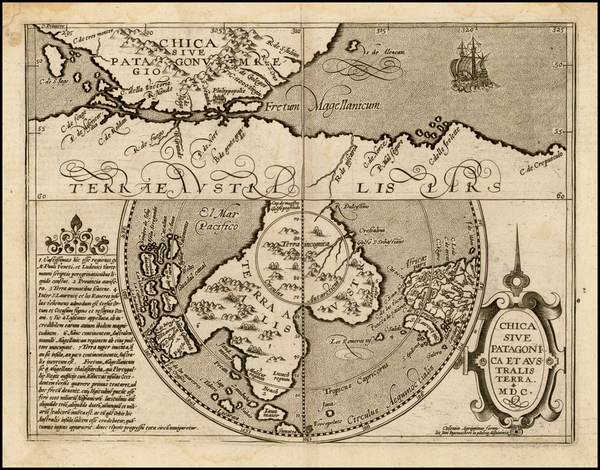 72-Southern Hemisphere, Polar Maps and South America Map By Matthias Quad / Johann Bussemachaer