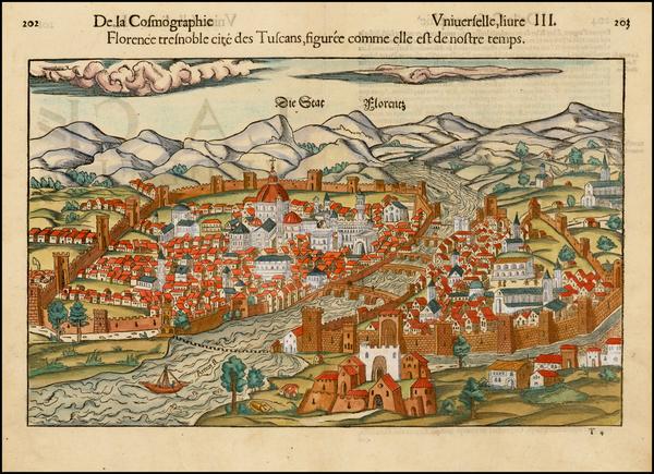 93-Italy Map By Sebastian Munster