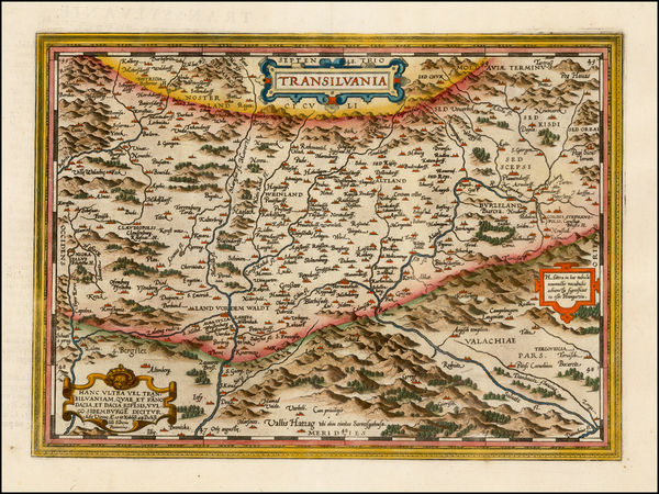 52-Romania and Balkans Map By Abraham Ortelius